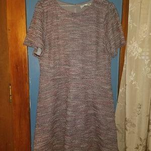 Ann Taylor tweed dress 14